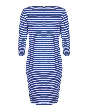 mudd-&-water-jurkje-dress-Freya-Azure-Stripe-achterkant