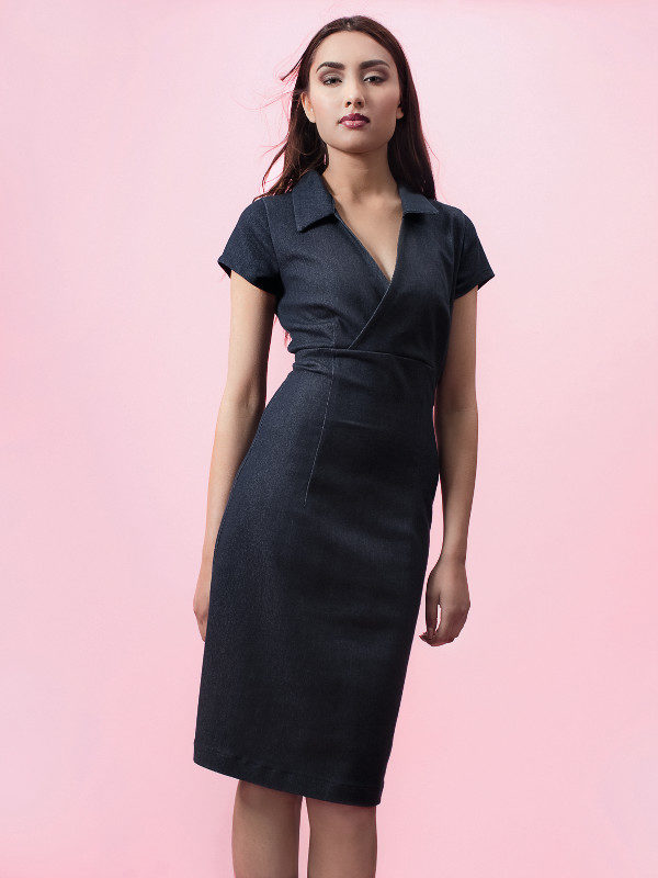 Ich-Jane-dress-Windsor-denim-model