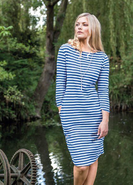 mudd-&-water-jurkje-dress-Freya-azure-stripe