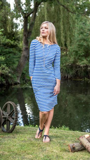 Mudd-&-Water-jurk-Freya-navy-stripe