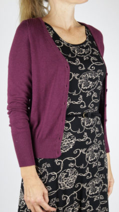 WHO´S-THAT-GIRL-vestje-Elisa-aubergine-LE-PEP-jurk-Florette