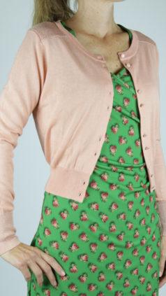LE-PEP-vestje-Elisabeth-vintage-roze-Lalamour-jurk-Wrap-groen