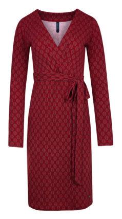 rode-TRANQUILLO-jurk-Merle-berry-voorkant-geschaald-geknipt