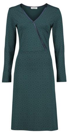 LE-PEP-jurk-Fibi-dark-green-voorkant
