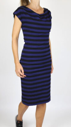 IEZ-jurk-Drapy-black-&-blue
