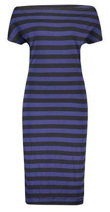 IEZ!-jurk-Drapy-black-blue