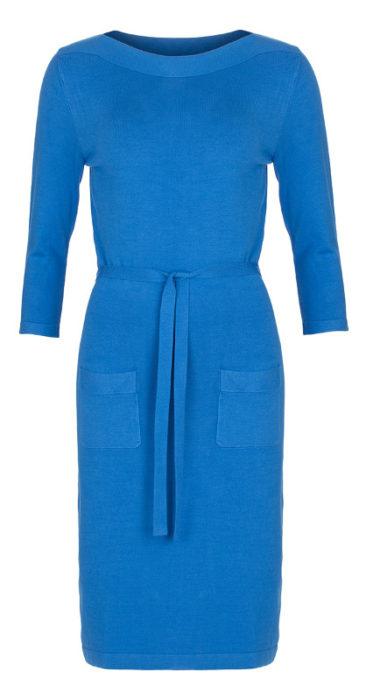 Gebreide-LE-PEP-jurk-Abbey-blauw-voorkant