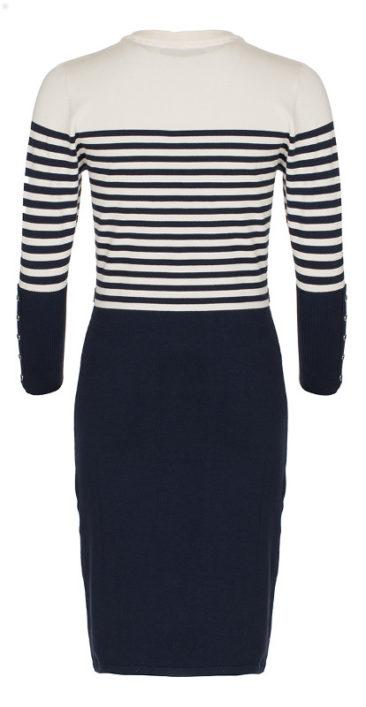 LE-PEP-jurk-Adelle-navy-stripe-achterkant