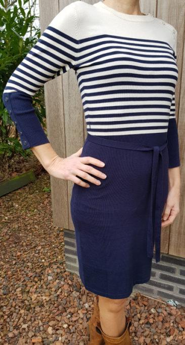 LE-PEP-jurk-Adelle-navy-stripe