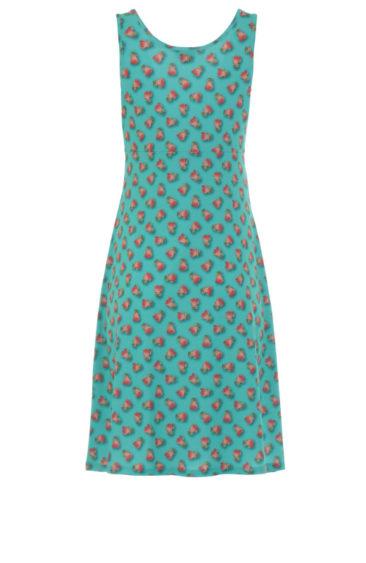 Lalamour-jurk-Singlet-rose-turquoise-achterkant