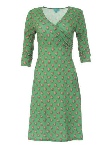 Lalamour-jurk-Wrap-rose-green-voorkant