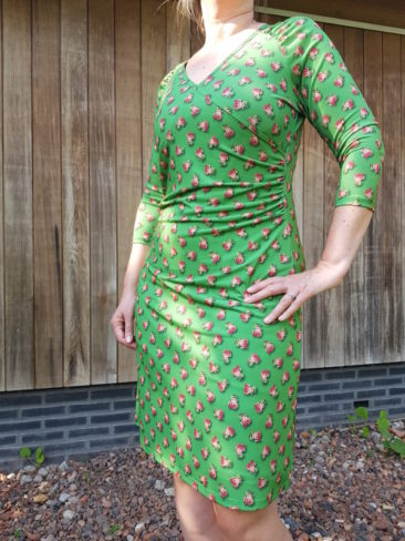 Lalamour-jurk-Wrap-rose-groen