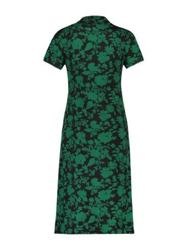 IEZ-jurk-Bow-groen-zwart-flower-achterkant