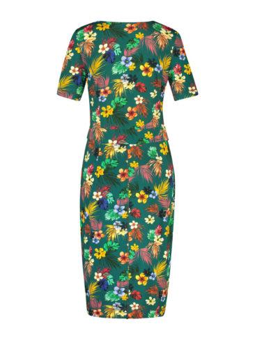 IEZ-jurk-Wrap-groen-flowers-achterkant