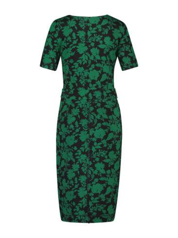 IEZ-jurk-Wrap-groen-zwart-flowers-achterkant