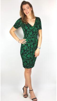 iez-jurk-wrap-flowers-groen-zwart