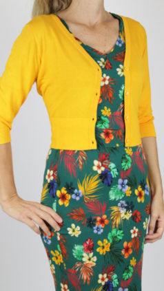 ZILCH-kort-bamboe-vestje-sunset-IEZ-jurk-Wrap-flowers-groen