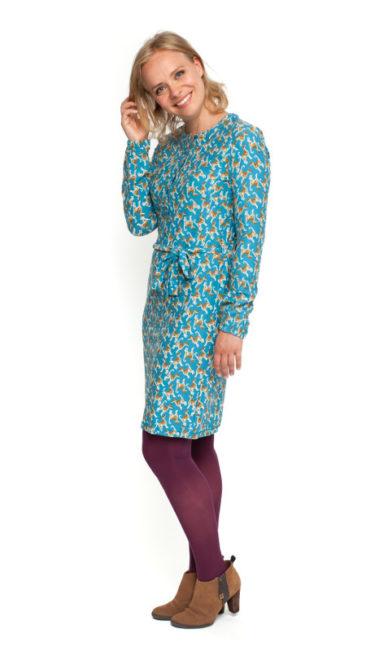 Bakery-Ladies-jurk-Dixie-blauw-model-BL-binnen