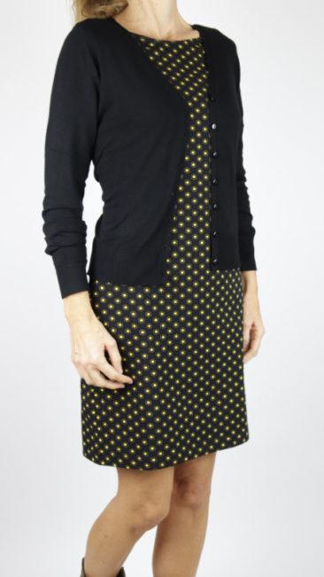 ZILCH-jurk-Hexagon-black-bamboe-vestje-zwart