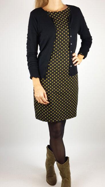 zilch-jurk-hexagon-black-bamboe-vestje-ronde-hals-zwart