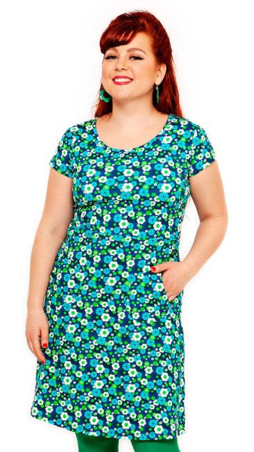 Cissi-och-Selma-jurk-Asta-aqua-flowers