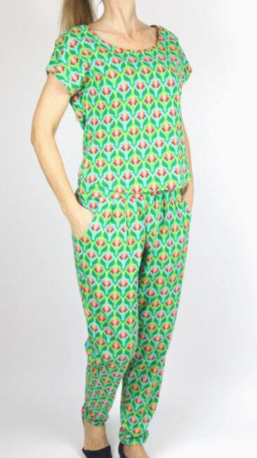 Lalamour-broek-Lotus-groen-shirt-losse-lotus-groen