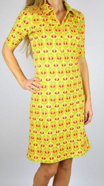 Lalamour-jurk-Zipper-geel