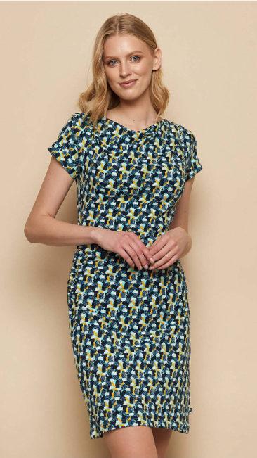 TRANQUILLO-jurk-Patraea-blauw