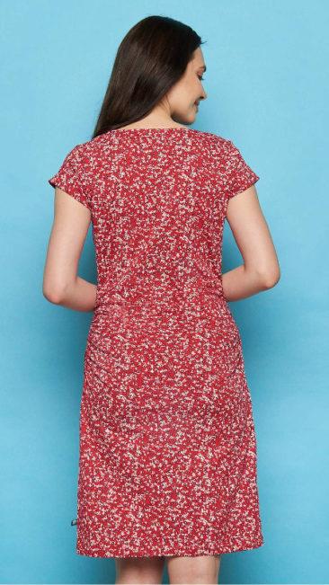 TRANQUILLO-jurk-Patraea-rood-achterkant