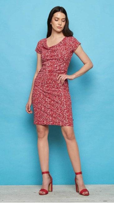TRANQUILLO-jurk-Patraea-rood