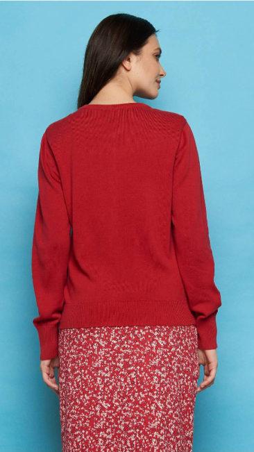 TRANQUILLO-vest-Asha-rood-jurk-Naisula-achterkant