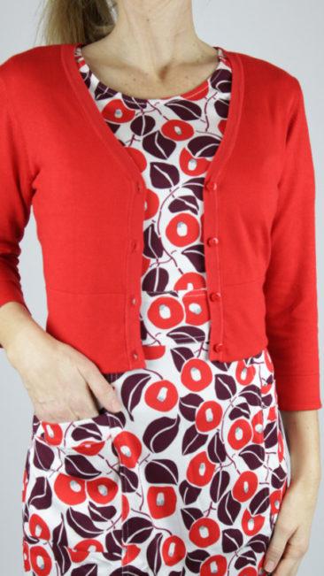ZILCH-Kort-bamboe-vestje-rood-lipstick-jurk-Pockets-japan-lipstick