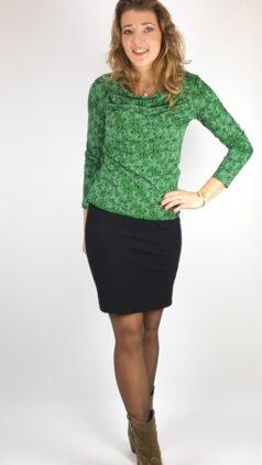tranquillo-shirt-ersa-groen-iez-rok-basic-zwart