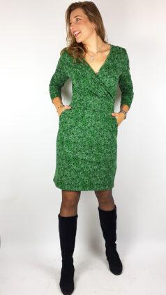 tranquillo-jurk-cross-pleats-groen
