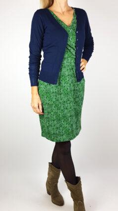 tranquillo-jurk-rikka-groen-zilch-bamboe-vestje-navy