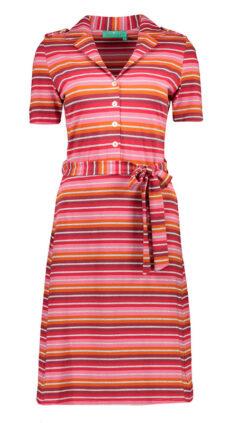 bakery-ladies-jurk-polo-tulsa-stripes-burgundy-tango-red