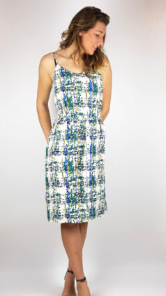 zilch-jurk-straps-checker-emerald