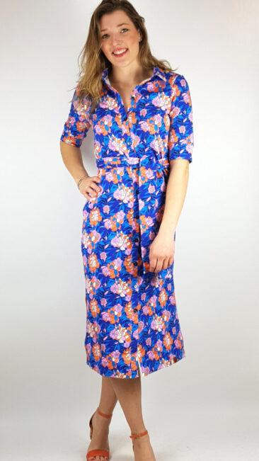 mooi-vrolijk-jurk-maxi-cobalt-blue-flower