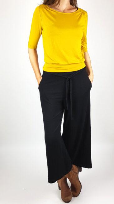 zilch-culotte-zwart-froy-dind-shirt-valerie-okergeel