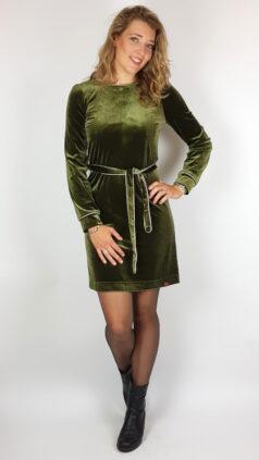 mooi-vrolijk-jurk-chic-green-steam-velvet